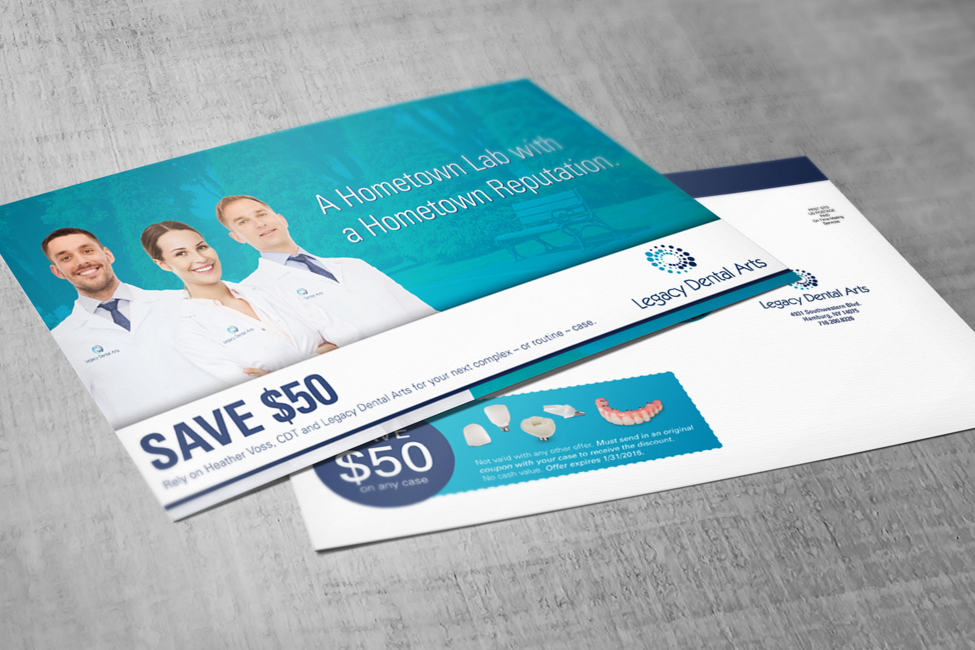 Legacy Dental Lab Direct Mail