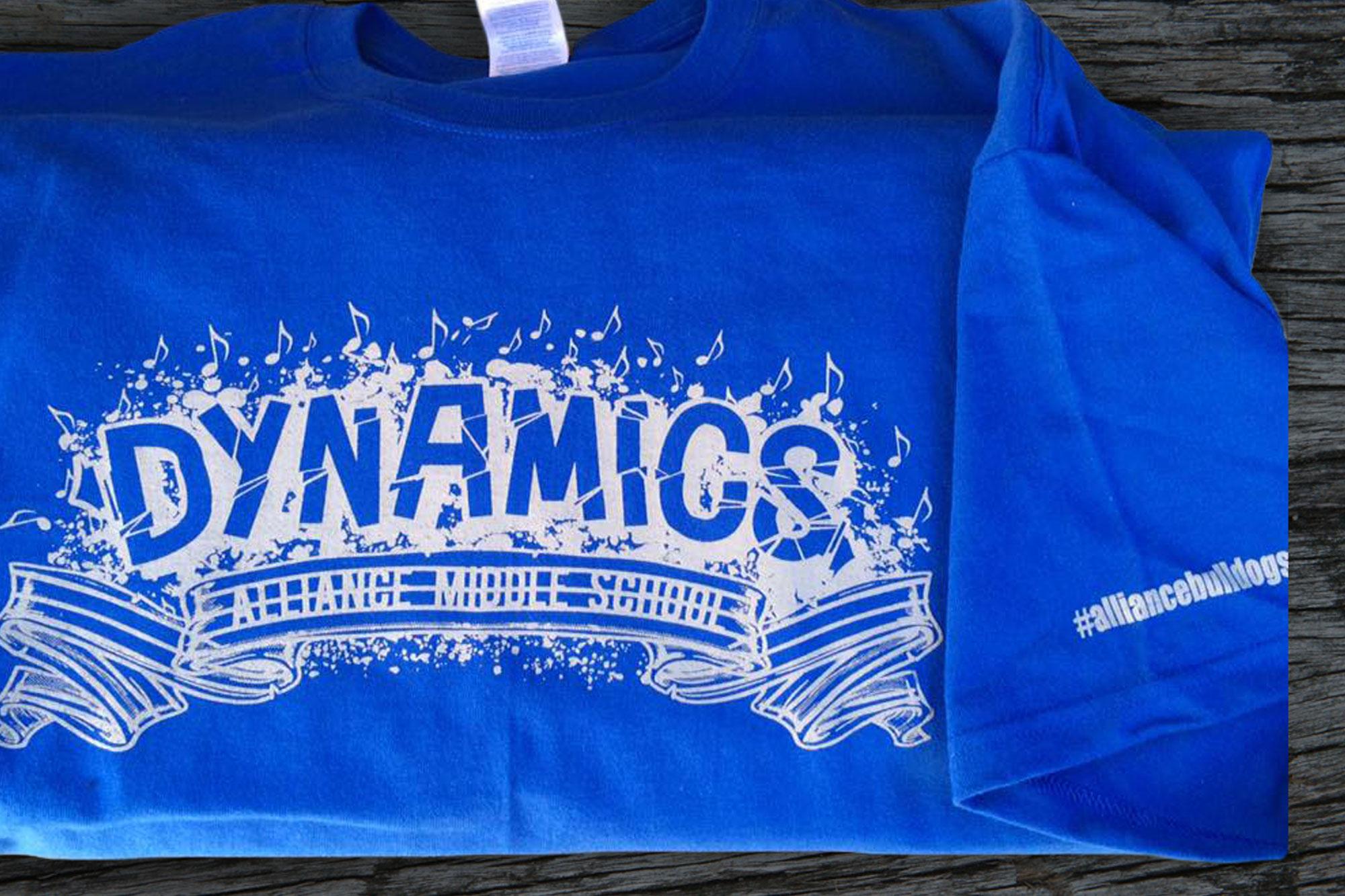 Dynamics Alliance Middle School Shirt Design Close Up