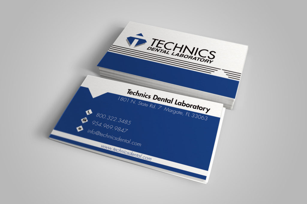Technics Dental Laboratory Business Cards