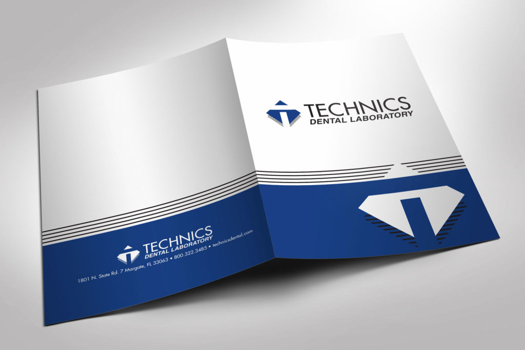 Technics Dental Laboratory Pocket Folder outside