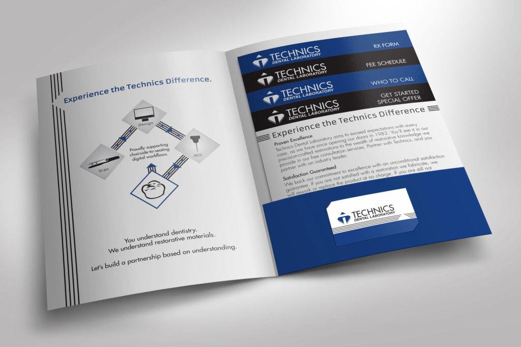 Technics Dental Laboratory Pocket Folder Inside