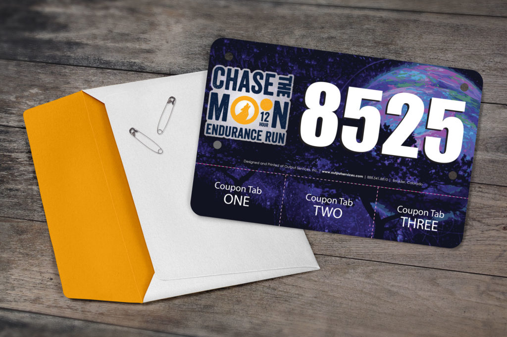 Chase the Moon Racing Bib
