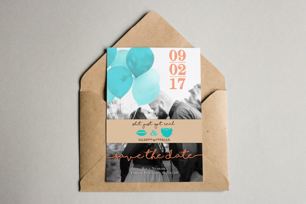 Save the dates with envelope