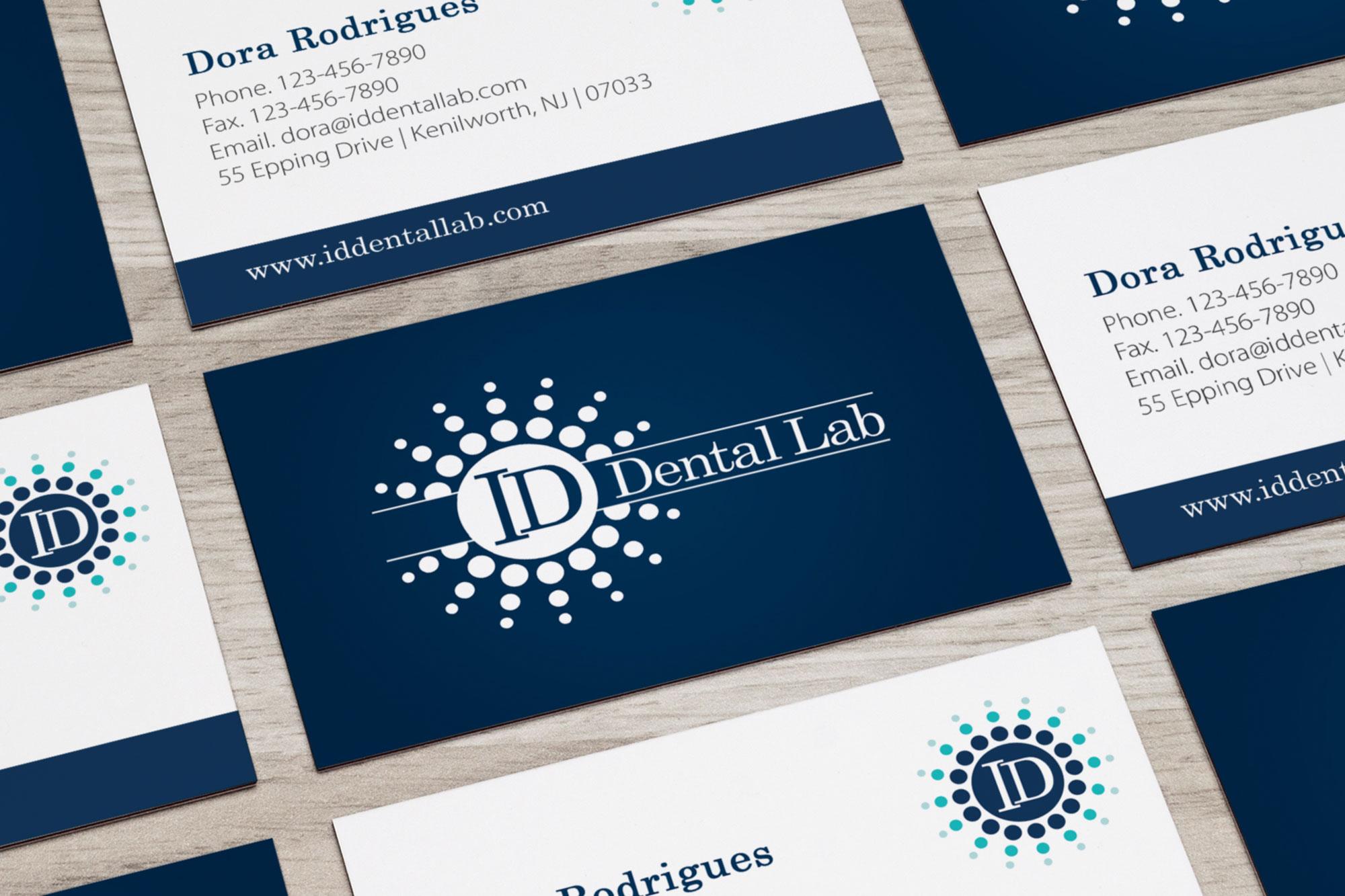 ID Dental Laboratory Business Cards