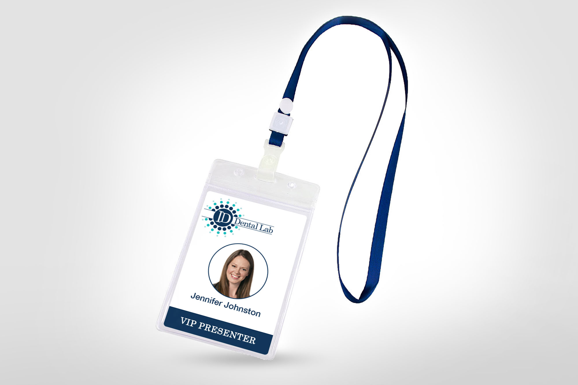 ID Dental Laboratory Name Badge Example