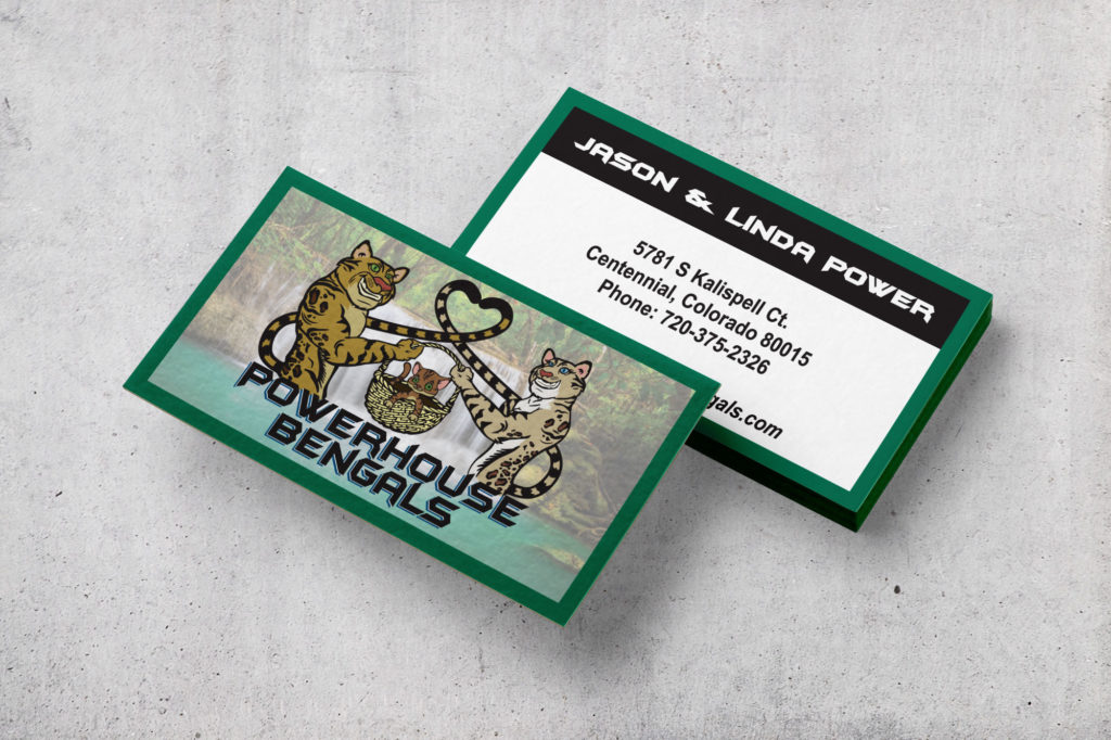 Powerhouse Bengals Illustrated Business Card