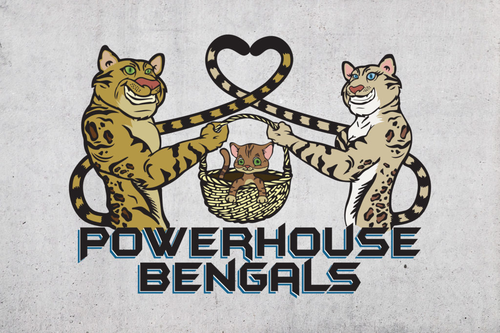 Powerhouse Bengals Illustrated Logo