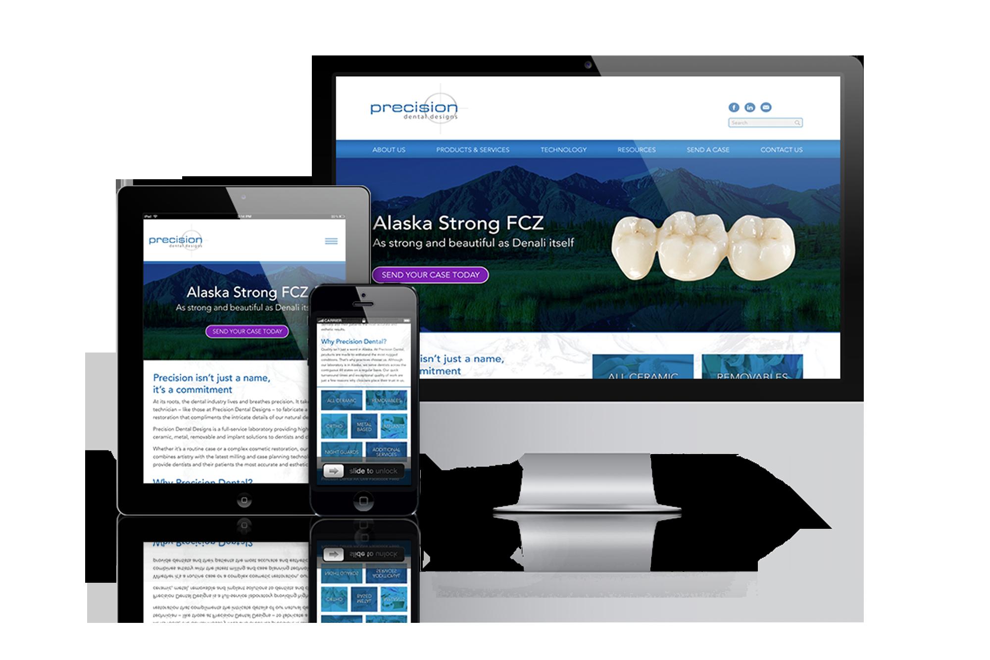 Precision Alaska Dental Laboratory Website