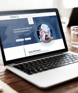 Website design Mockup for Finesse Dental Lab