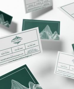 Peak-Dental-Business_Cards_flying_Mockup-cropped